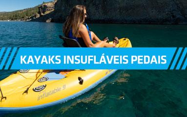 Kayaks Insufláveis a pedais